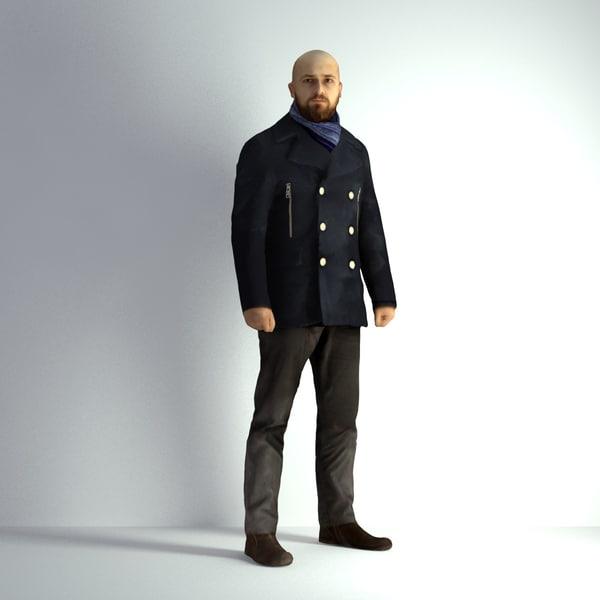 3d scanned man 005 model