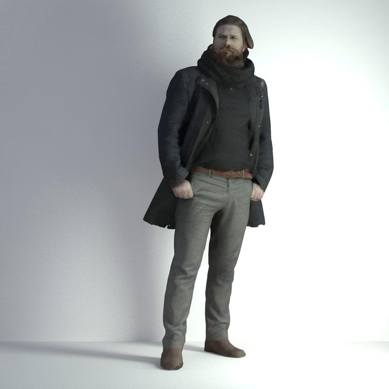 scanned man 002 3d model