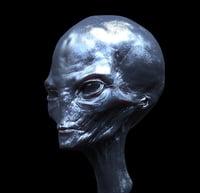 ufo alien head obj