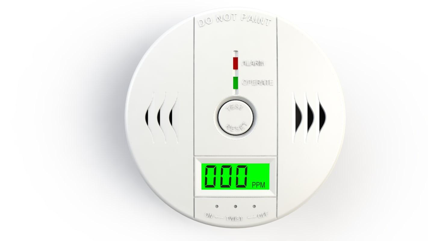 carbon monoxide detector 3d model