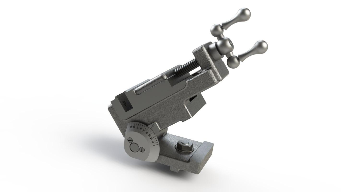 grinder vise 3d model