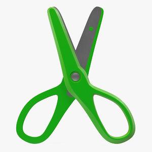 scissors 3 green 3d max