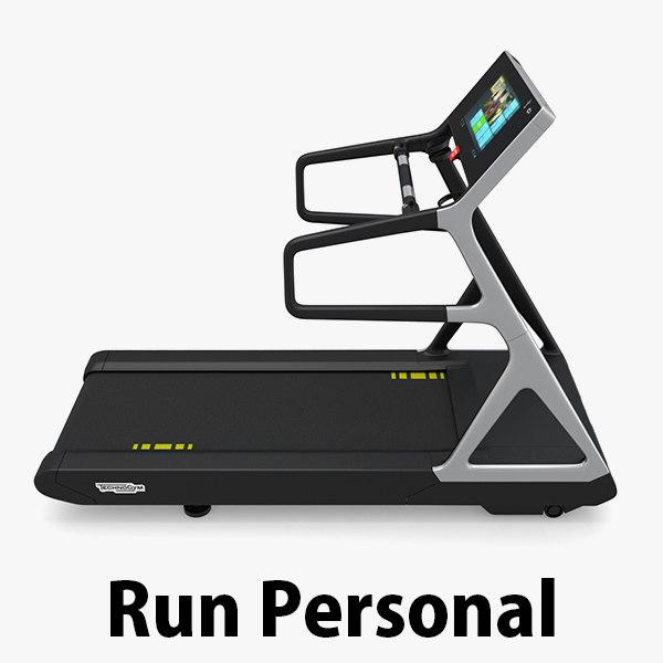 3d model gym treadmill
