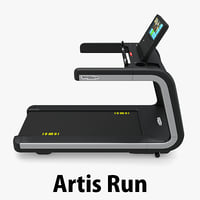 3d treadmill gym model