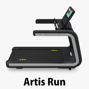 3d treadmill gym model
