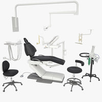 a-dec 500 dental equipment 3d model