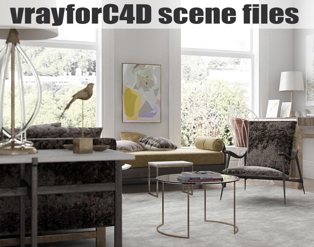3d model vrayforc4d scene files -