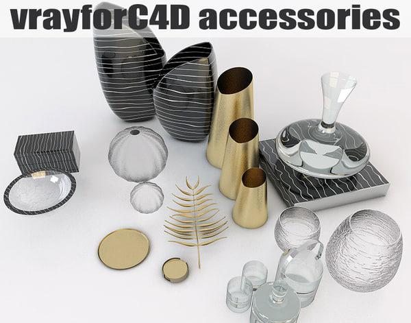 accessories contemporary interior 3d model