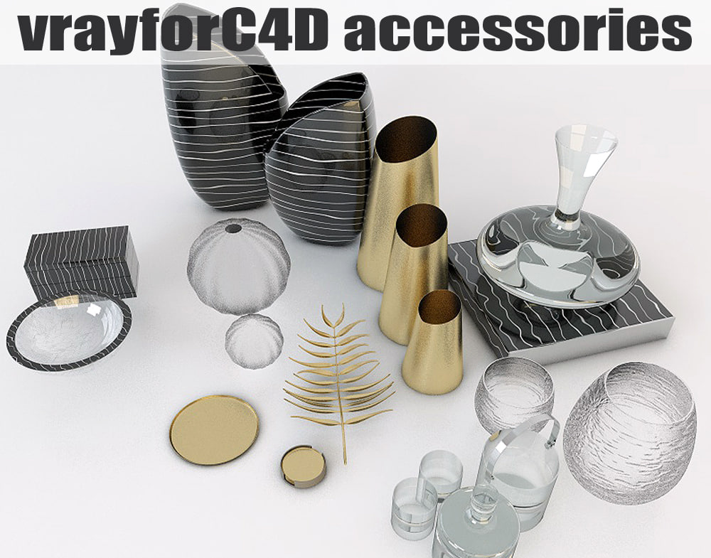accessories contemporary interior 3d model
