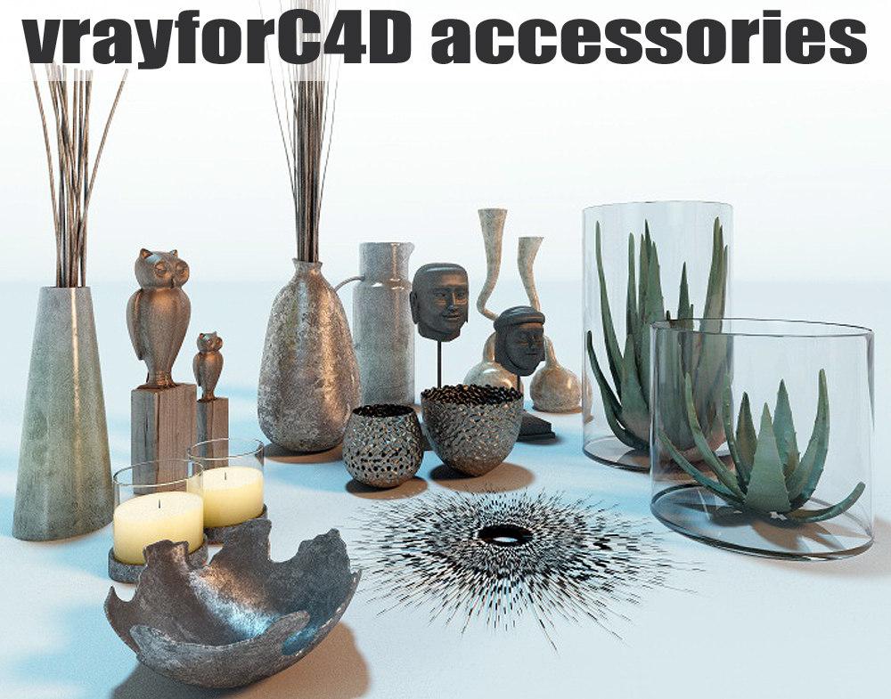 interior accessories 3d c4d