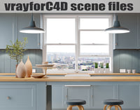 VRayforC4D Scene files - French Country Kitchen