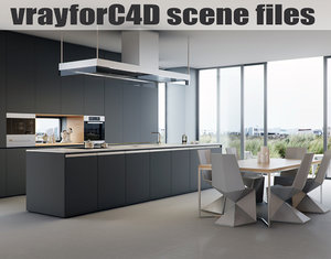 3d model vrayforc4d scene files -