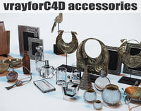 contemporary accessories interior renderings c4d