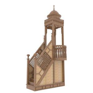 islamic menbar mosque 3d max