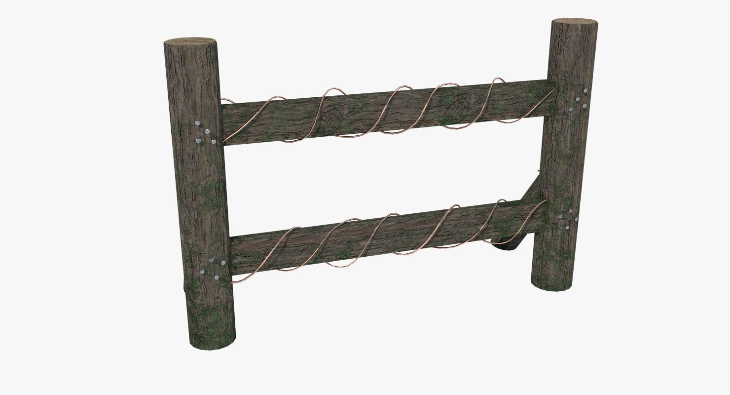 obj fence old wood