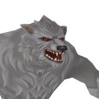 3D werewolf fantasy model