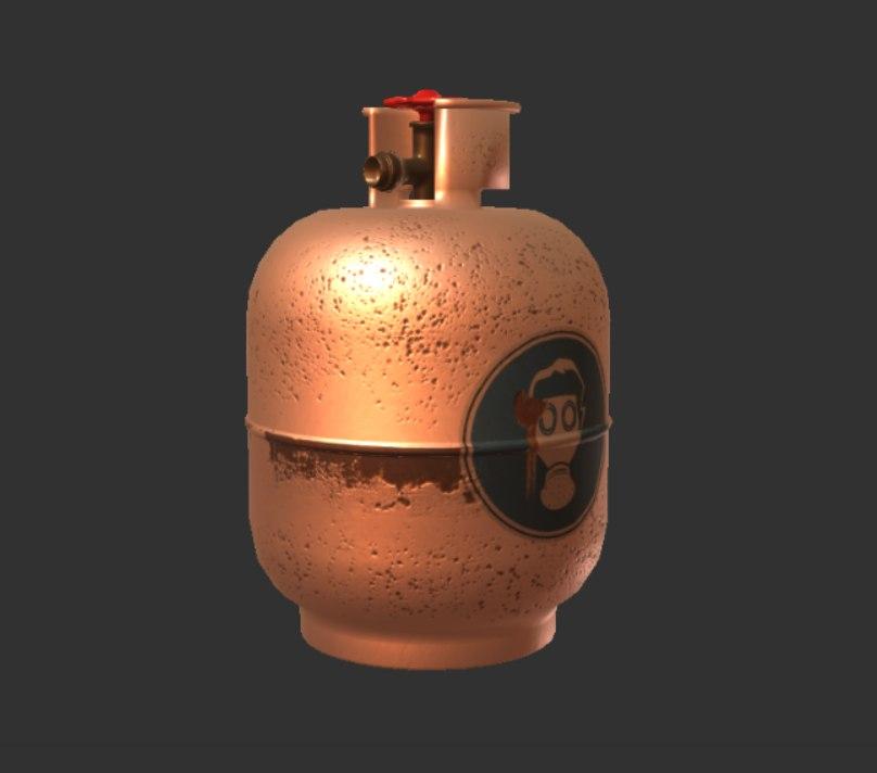 gas tank 3D