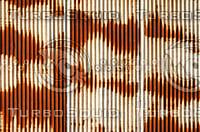 Rusty Corrugated Metal Sheet