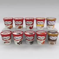 3d haagen dazs ice cream