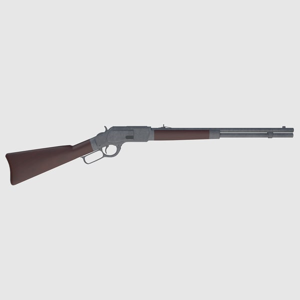 3d model ready winchester rifle -