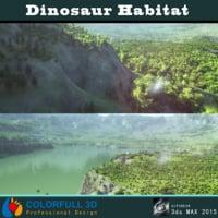 3d scene dinosaurs model