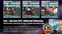 Iray + in 3dsmax 2017 vMaterial Collection. Vol 8 - 9 -10 Cd Front