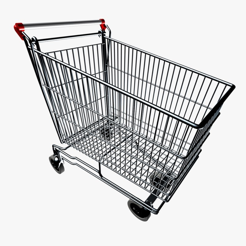 3d grocery buggy model