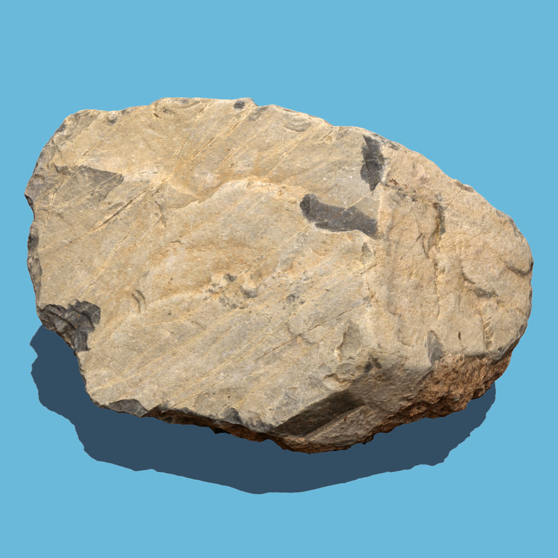 photo scanned rock 3d model