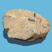 photo scanned rock 3d model