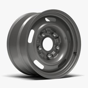 3d model 60s gm rally wheel
