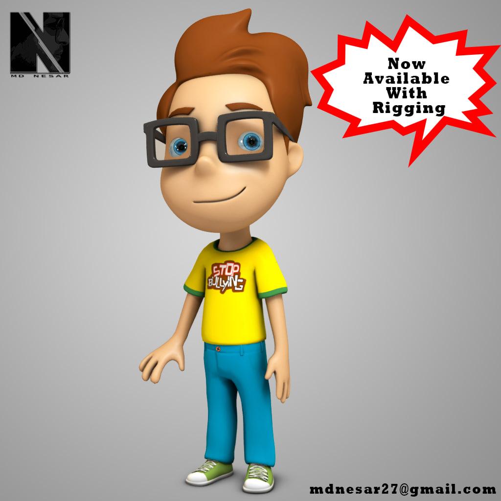 3d model stylized boy