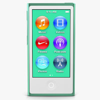 Apple iPod Nano Green 3D Model