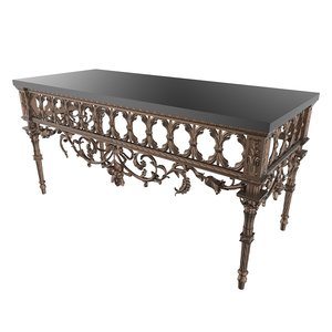 baroque table design 3d model