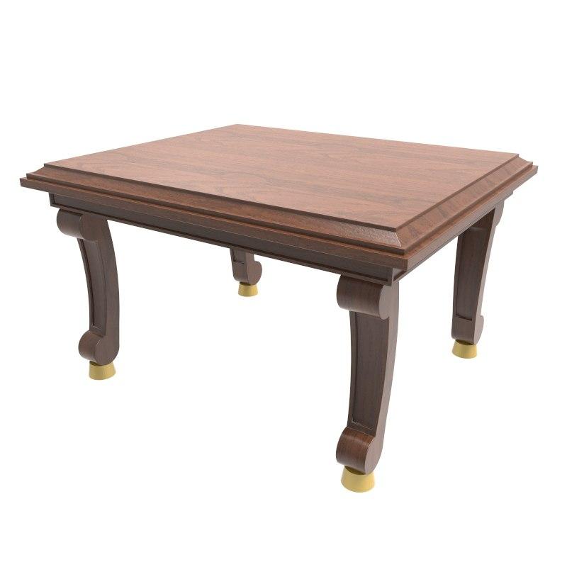 3d model of baroque table design