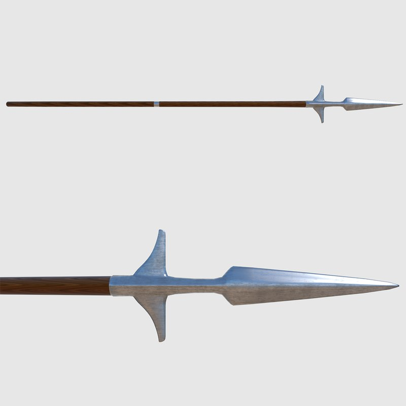 3d winged spear - ready