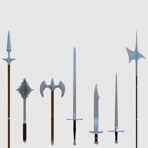 3d weapon - ready model
