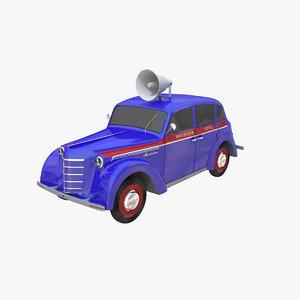 3d model moskvich 400-420 400