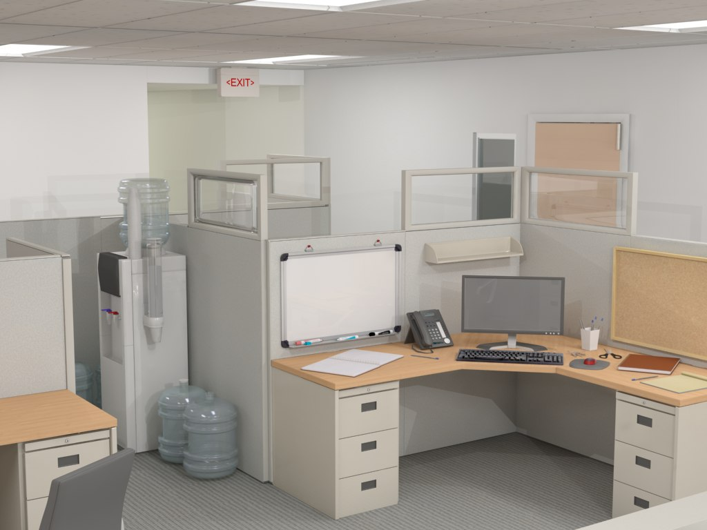 obj corporate cubicle area office