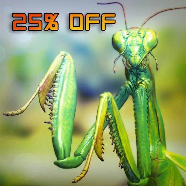 3d mantis religiosa rigged