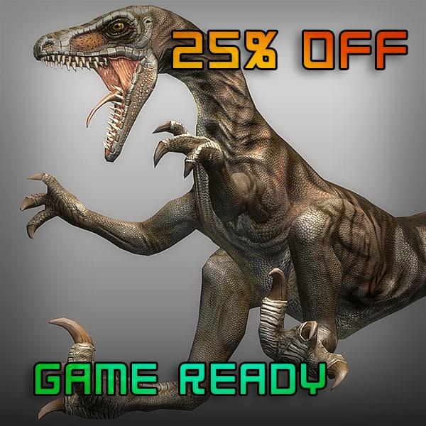 3ds max velociraptor raptor