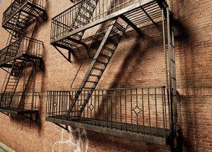 escape ladders 3d max