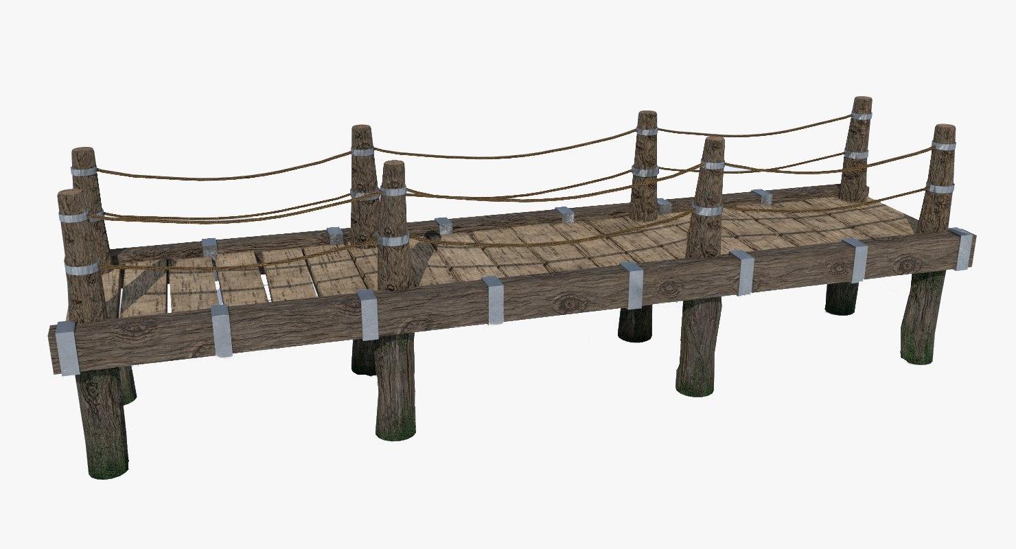 wooden bridge 3ds