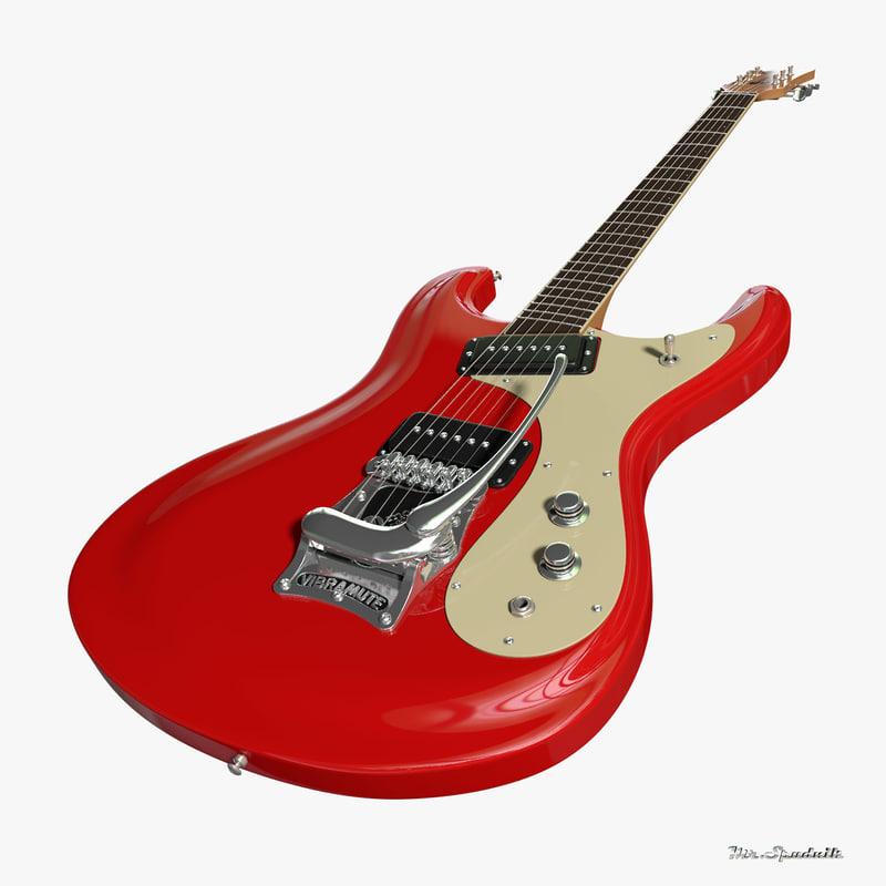 mosrite guitar ventures 3d model