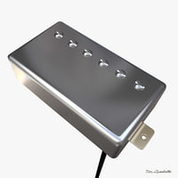 humbucker pickup 3d model