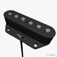 3d model pickup telecaster bridge