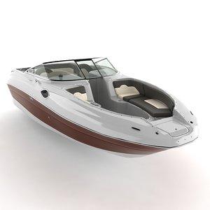 sea 240 sundeck 3d 3ds