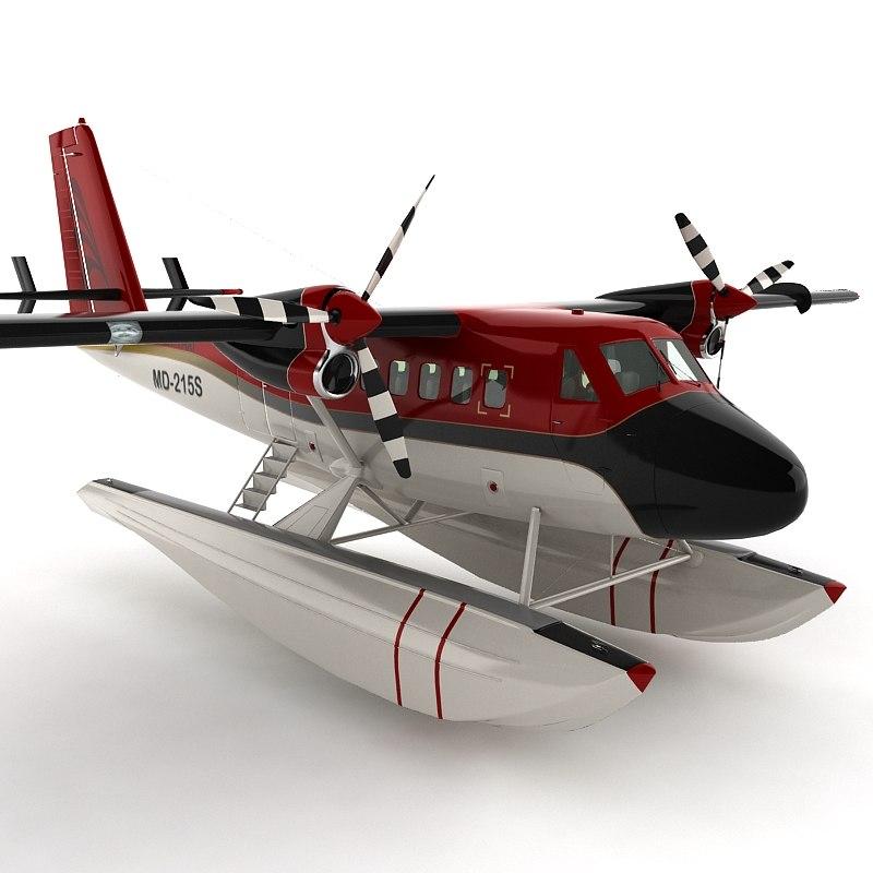 3dsmax seaplane sea