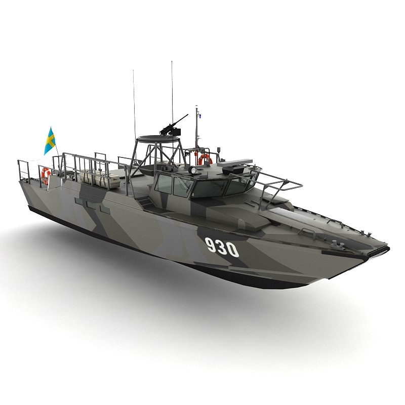 3d model stridsbat 90h