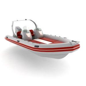 3d rigid inflatable boat