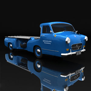 3d model mercedes renntransporter sport